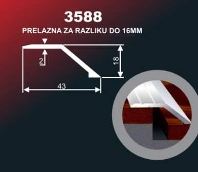 1003 Alu lajsna 3588 SR