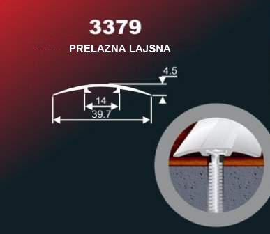 1012 Alu lajsna 3379 SR