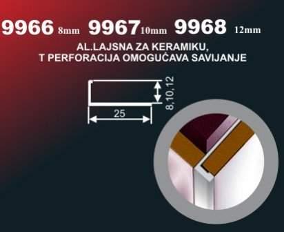 1024 Alu lajsna 9966 SR T Perf.