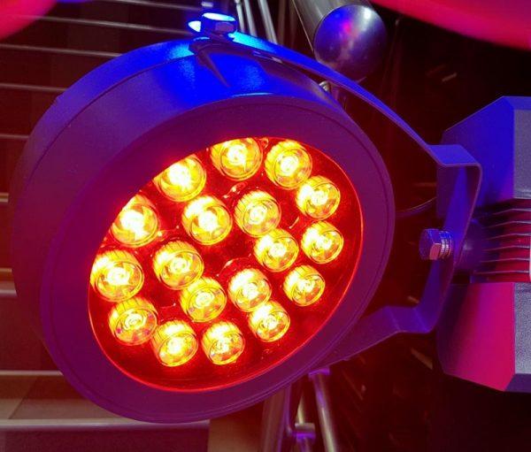 1362 Led reflektor 18W Red