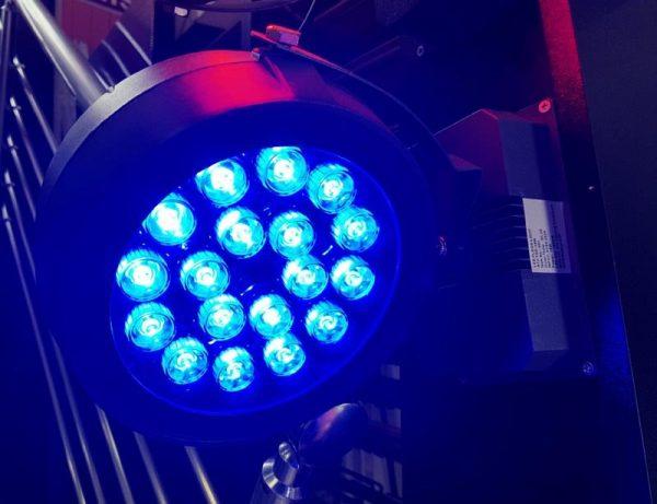 1363 Led reflektor 18W Blue