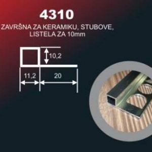 1590 Alu lajsna SR 4310 Brušeni Sjaj