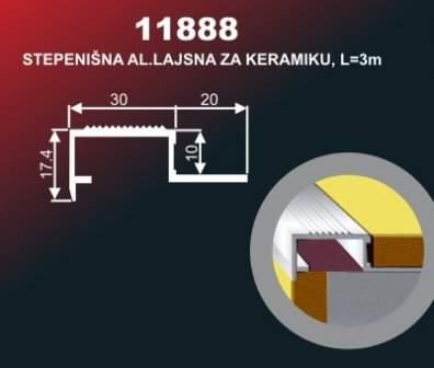 3230 Alu lajsna 11888 SR