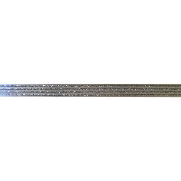373 Staklena listela Alu šljokice Silver GML109TVA 15x600x8mm