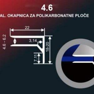 40 Alu lajsna 4.6 neelox. al. 1,4 metra