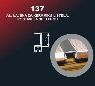 41 Alu lajsna 137 SR sjaj