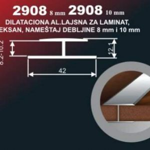 4205 Alu lajsna 2908-10 SR