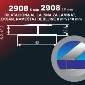 4216 Alu lajsna 2908-8 neelox. al. 6 metara