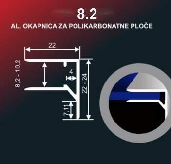4220 Alu lajsna 8.2 neelox. al. 2.7 metara