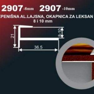 4465 Alu lajsna 2907-8 SR