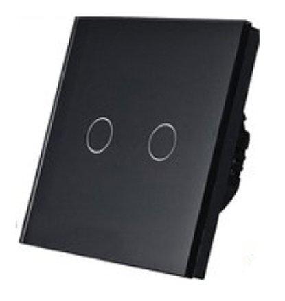 5148 Prekidač za svetlo Touch 2 kruga crni