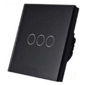 5151 Prekidač za svetlo Touch 3 kruga crni