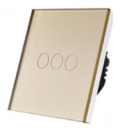 5152 Prekidač za svetlo Touch 3 kruga zlatni