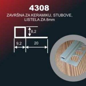 5297 Alu lajsna 4308 SR SJAJ