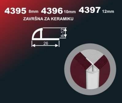 6213 Alu lajsna 4397 SR Sjaj