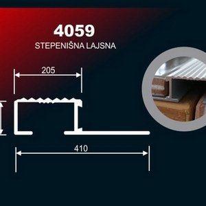 7206 Alu lajsna 4059 SR 3M