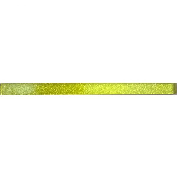 8845 Staklena listela L02 Žuta šljokice