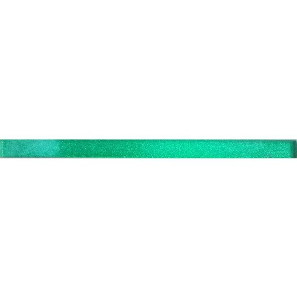 8847 Staklena listela L01 Zelena šljokice