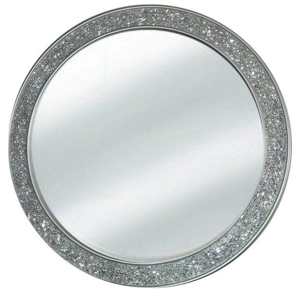 9875 Ogledalo mosaic Silver flat R80 krug 121 Flatmsc