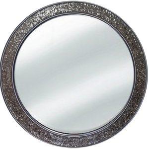 9876 Ogledalo mosaic Champange R80 krug 121 Flatmsc