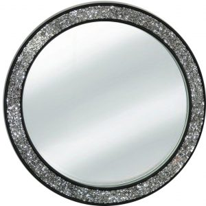 9883 Ogledalo mosaic Black R80 krug 121 Flatmsc