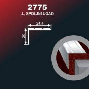 970 Alu lajsna 2775 ZL